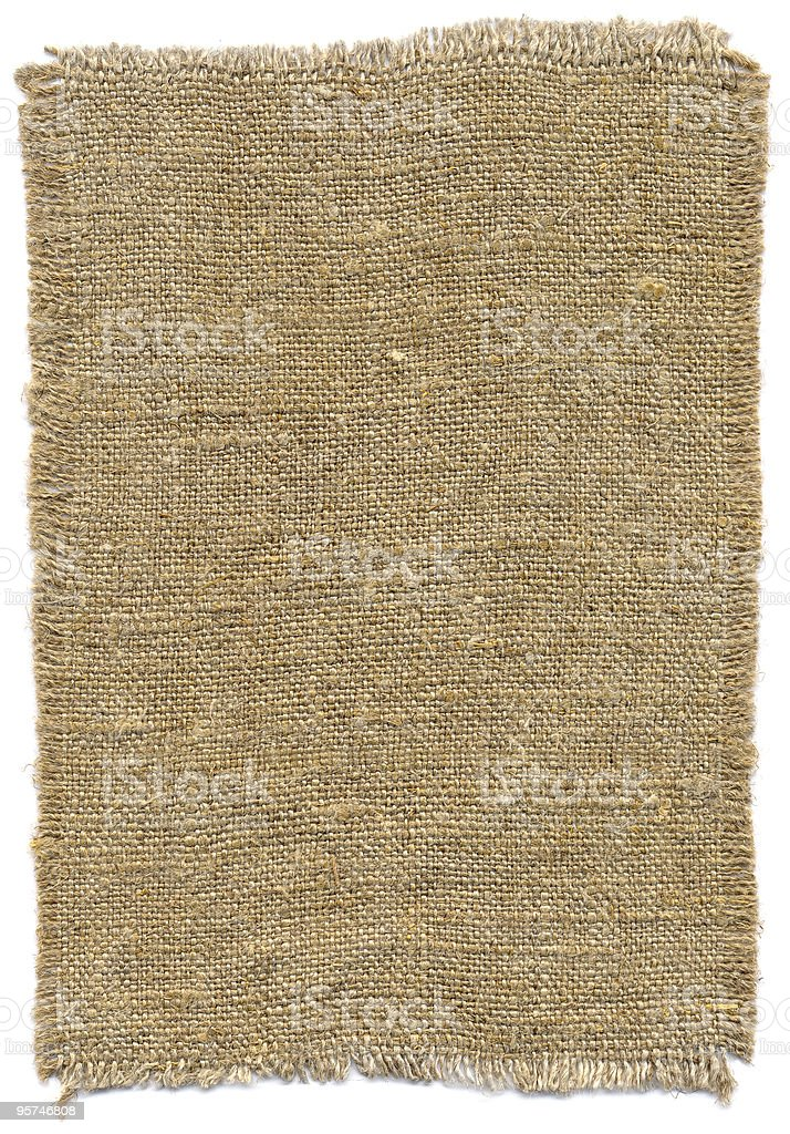 Piece of old sackcloth stock photo