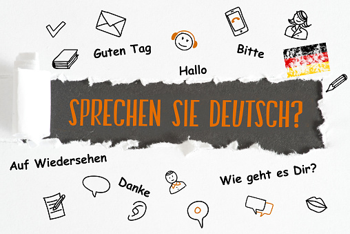 A piece of paper and question Speak German