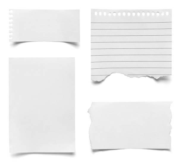 лист бумаги блокнот - письмо документ стоковые фото и изображения
