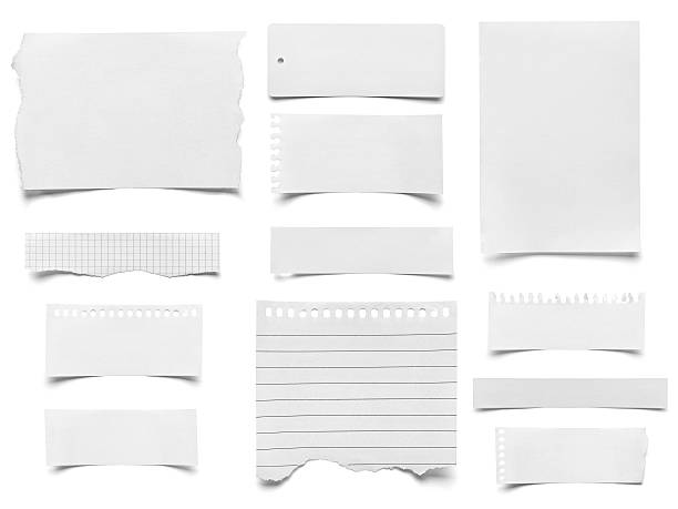 piece of paper note notepad stock photo