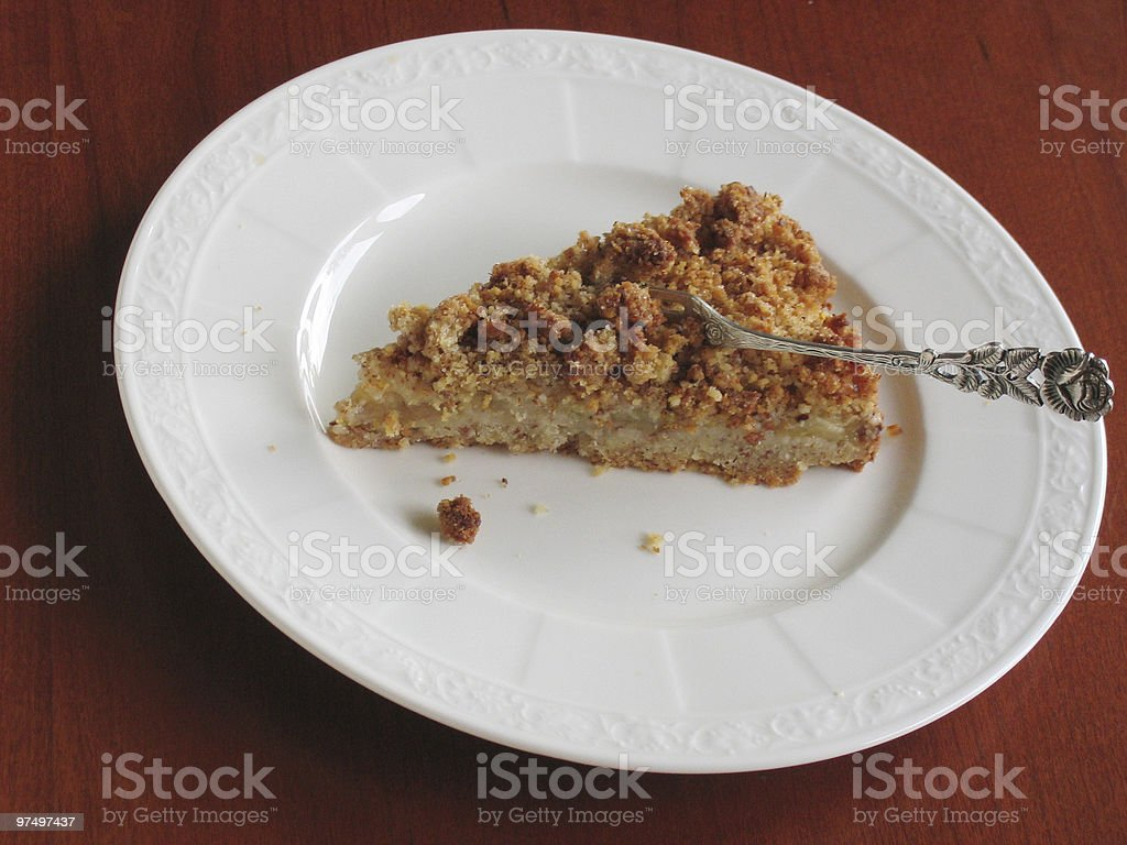 piece of pear cake royalty-free stock photo