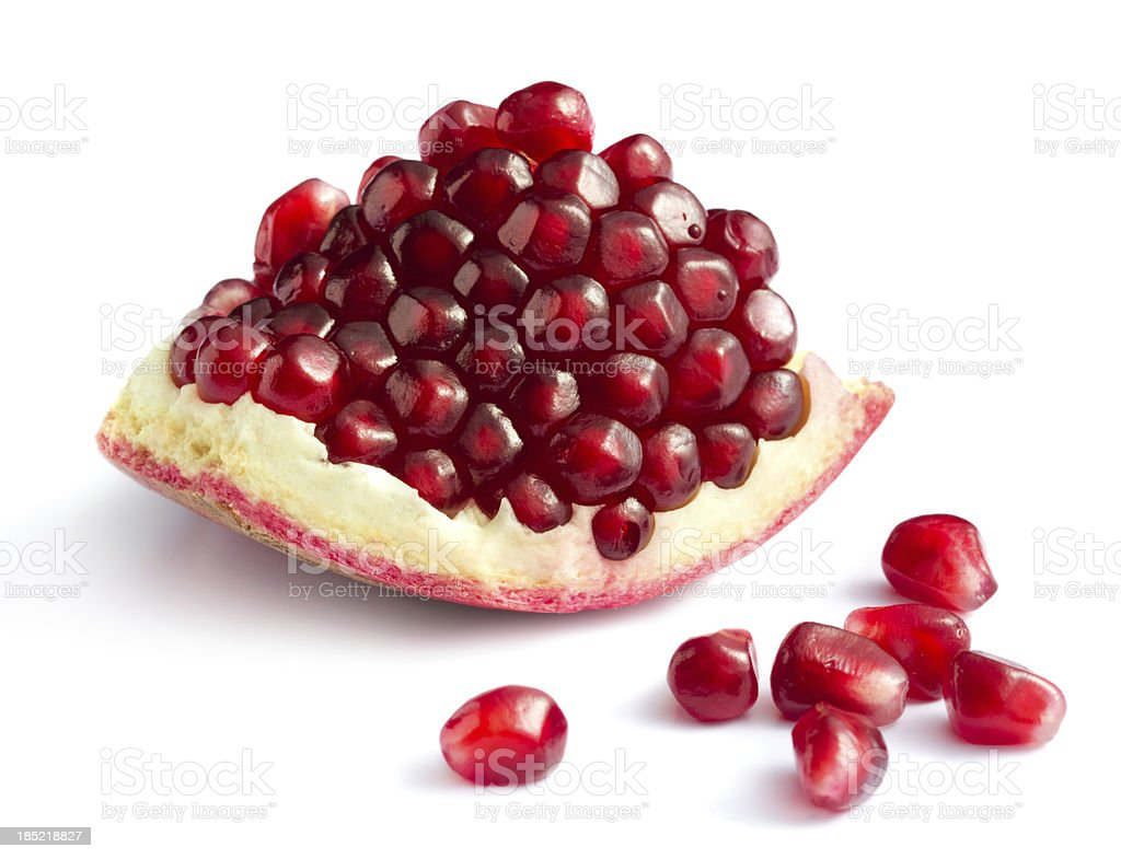 Piece of pomegranate stock photo
