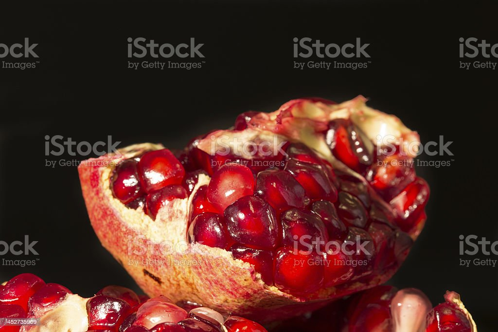 Piece of pomegranate royalty-free stock photo