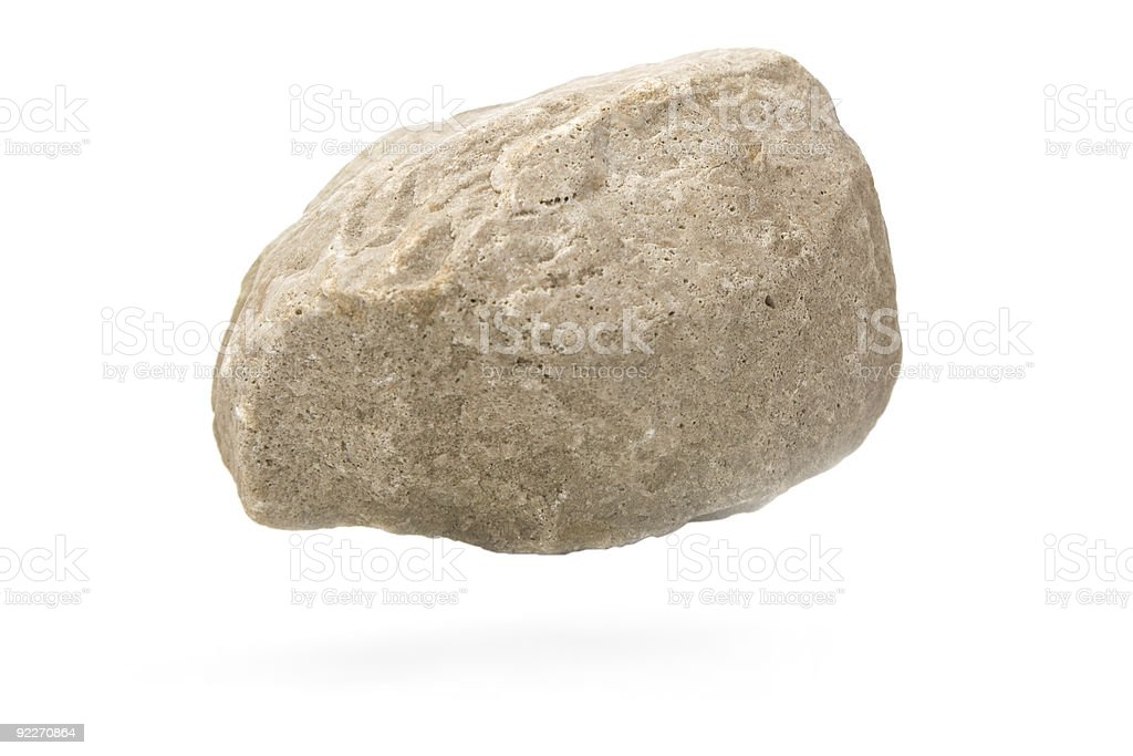 piece of rock with shadow stock photo