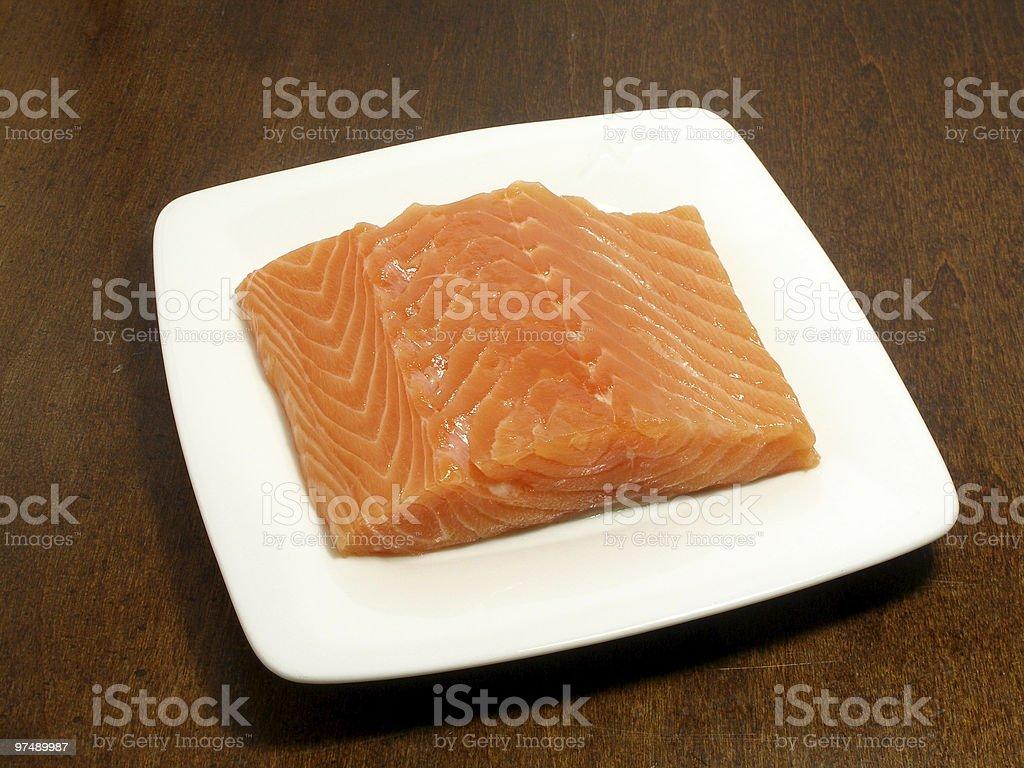 Piece of salmon royalty-free stock photo