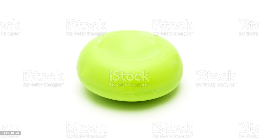 A piece of soap on white background royalty-free stock photo