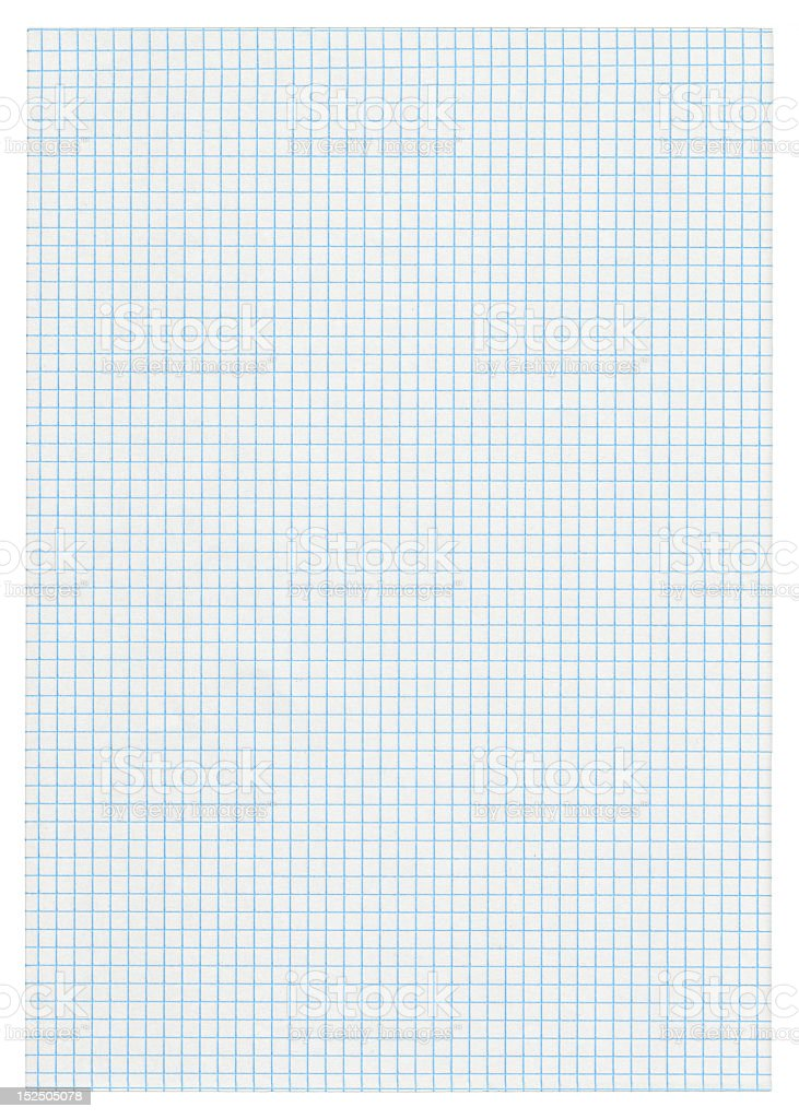 A piece of squared paper on white background  royalty-free stock photo