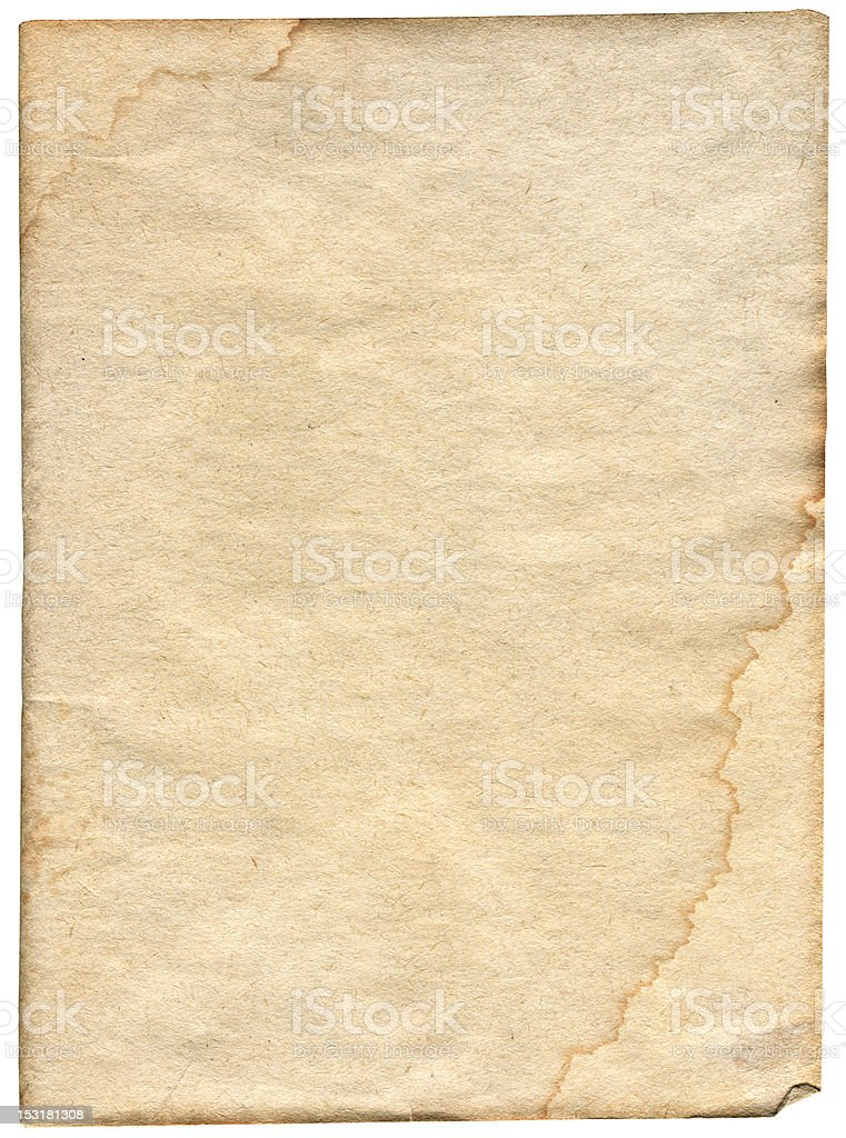 piece of stained paper royalty-free stock photo