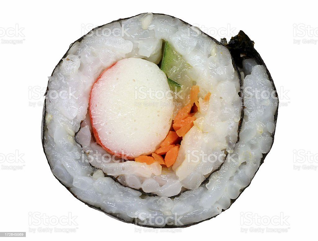 piece of sushi (California roll) royalty-free stock photo