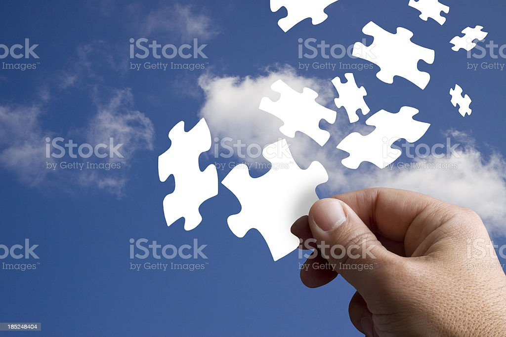 Piece of the Jigsaw royalty-free stock photo