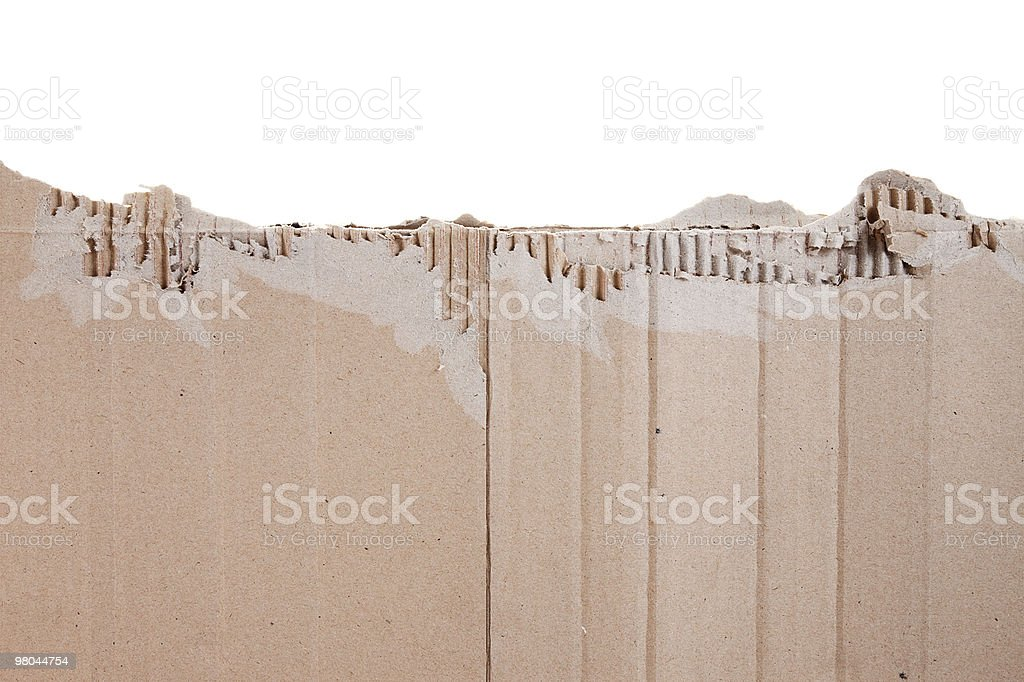 Piece of torn cardboard royalty-free stock photo