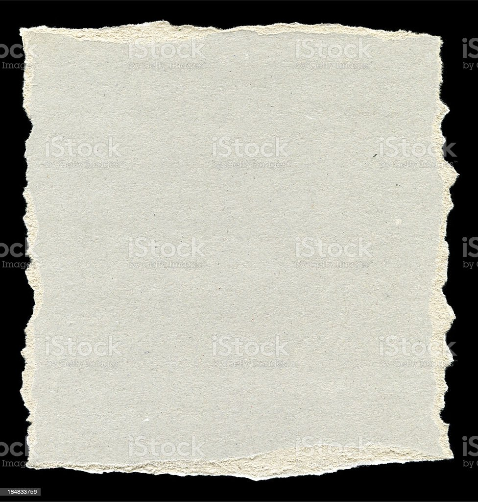 Piece of torn paper background textured isolated stock photo