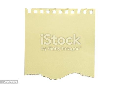 istock Piece of torn paper 1058675308
