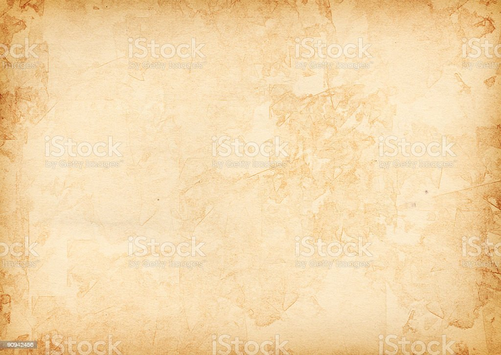 A piece of vintage texturized old paper  stock photo