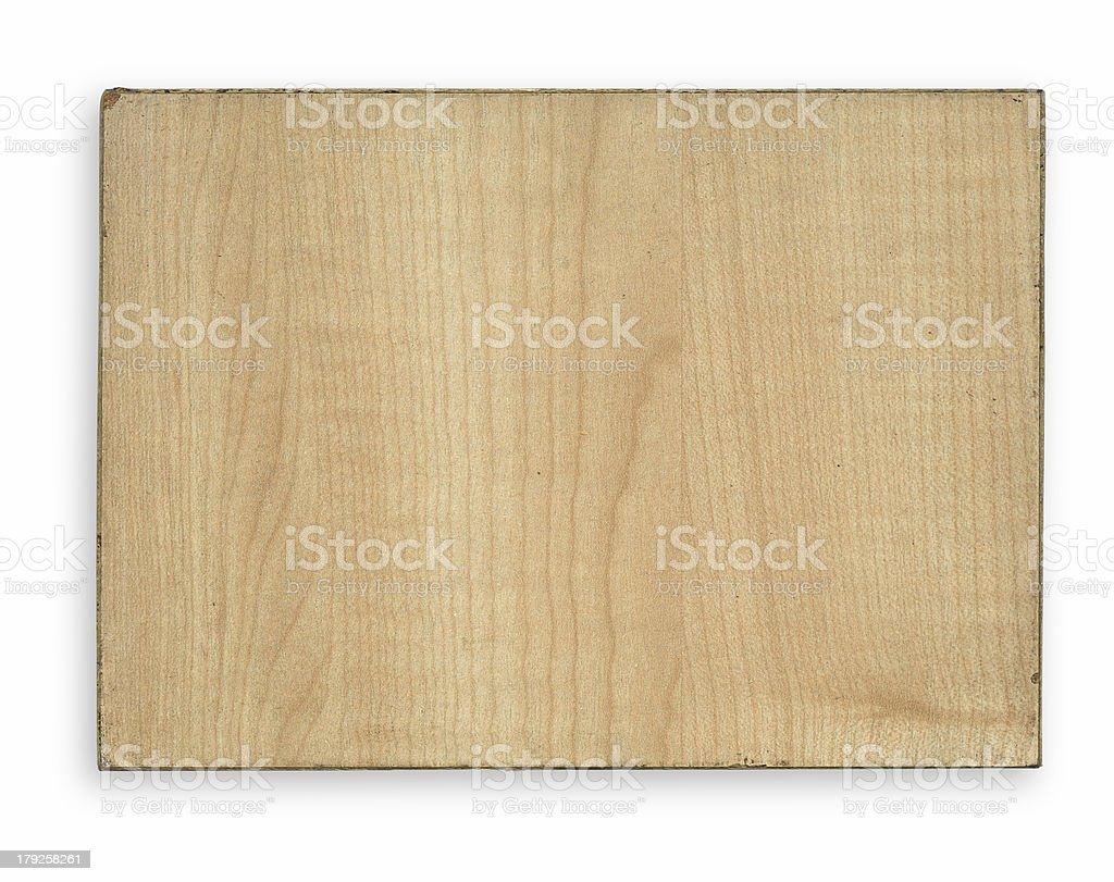 piece of wood with rim royalty-free stock photo