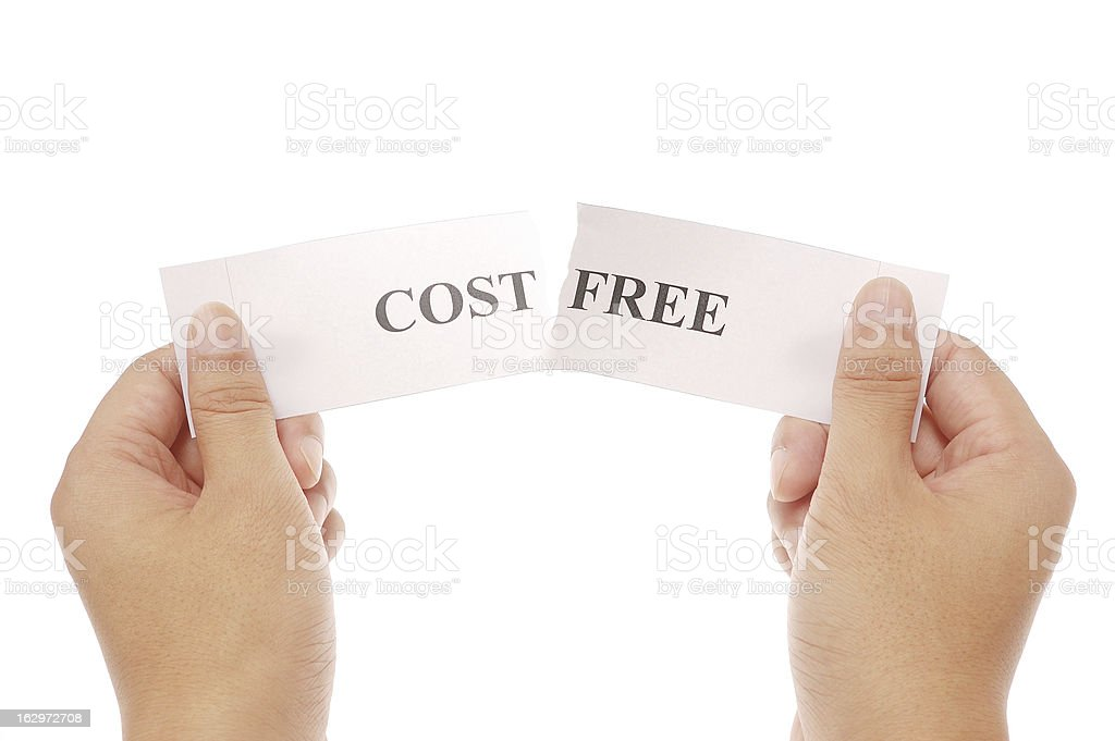 piece up words cost and free together royalty-free stock photo