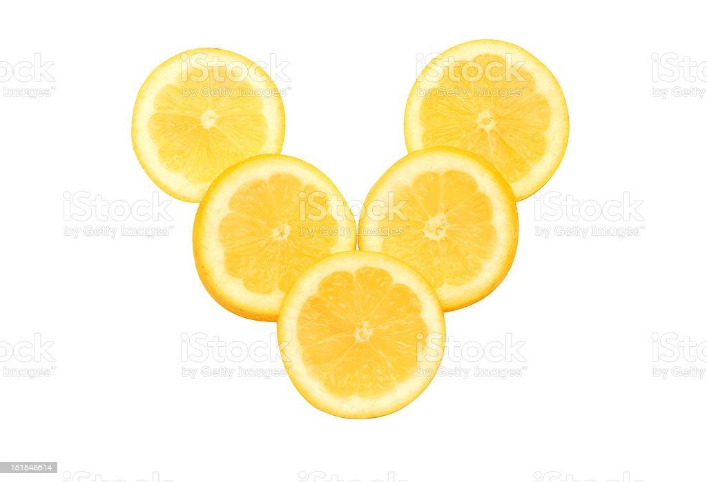 Stück Zitrone – Foto