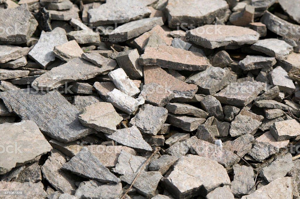 Pieces of asbestos royalty-free stock photo