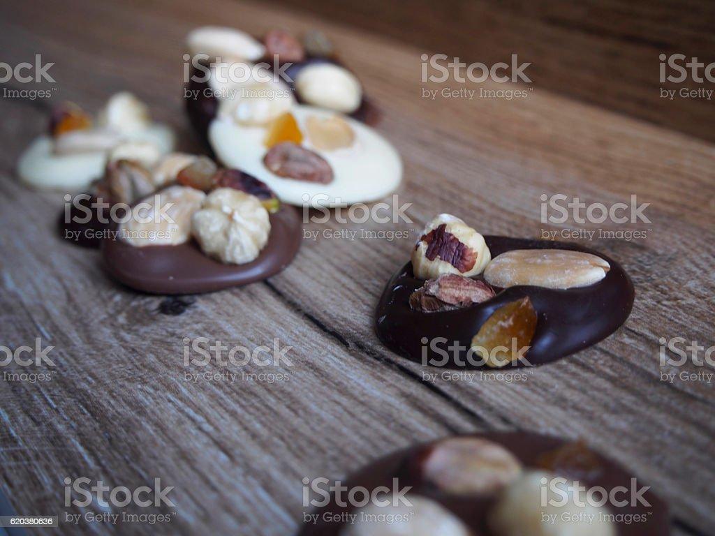 Pieces of black, white and chocolate with milk zbiór zdjęć royalty-free
