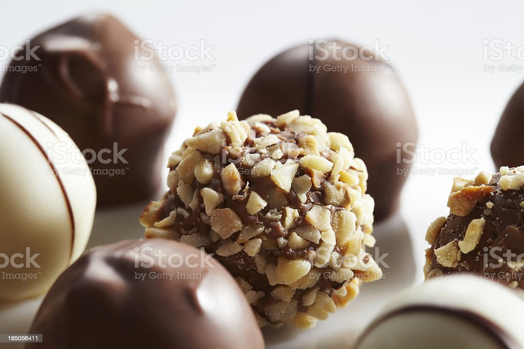 Pieces of chocolate royalty-free stock photo