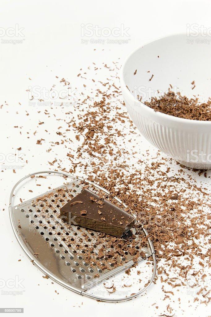 Кусочков шоколада готовы тертой Стоковые фото Стоковая фотография