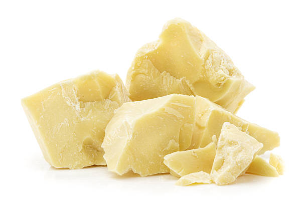 pieces of cocoa butter stock photo