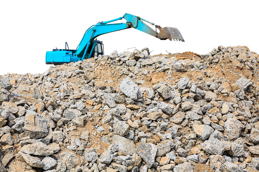istock pieces of concrete and brick rubble debris on construction site 620389260
