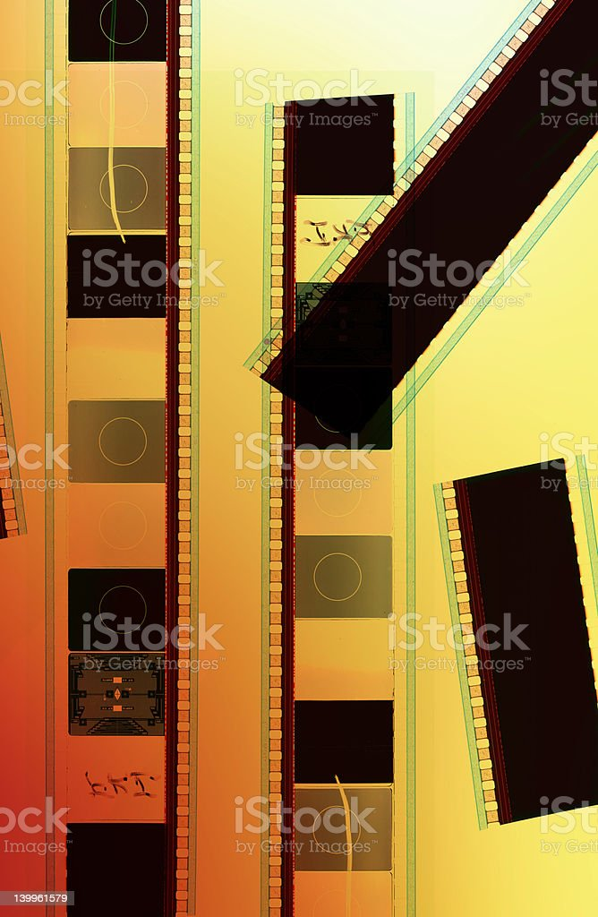 Pieces of exposed film royalty-free stock photo