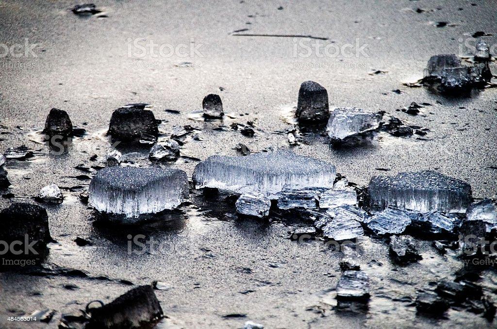 Pieces of ice. stock photo
