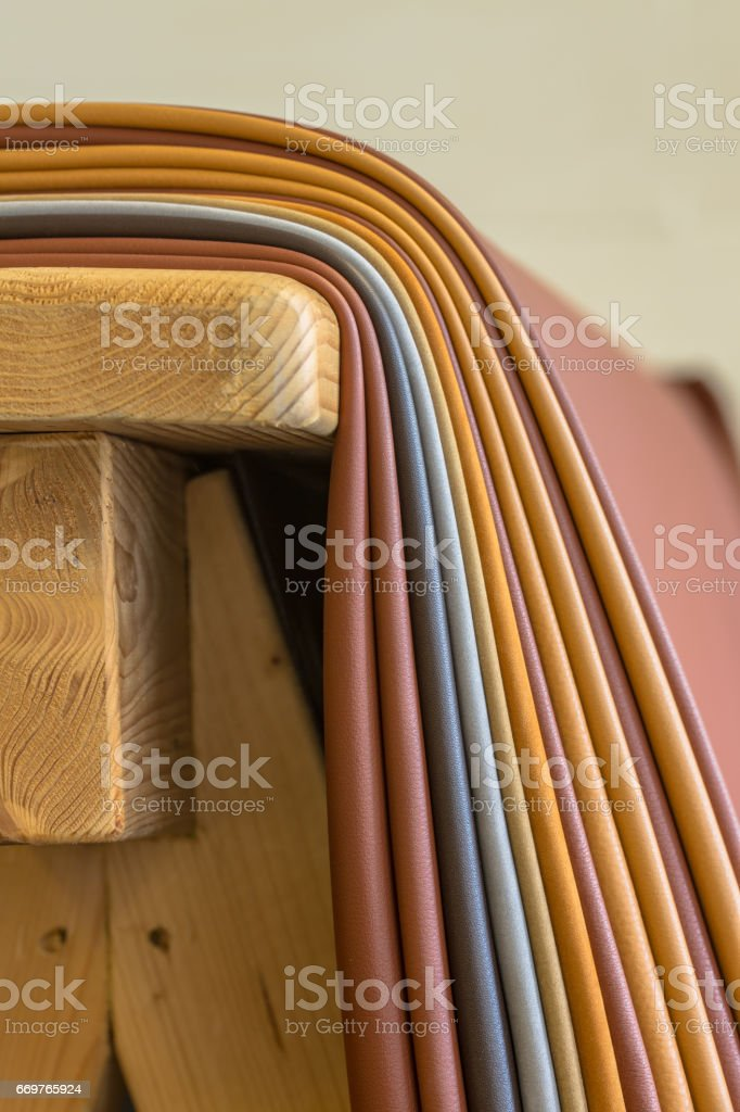 Pieces of leather stock photo