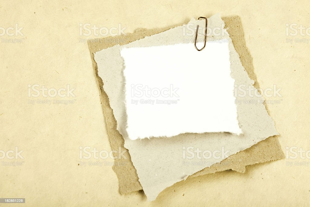 Pieces of old paper. royalty-free stock photo