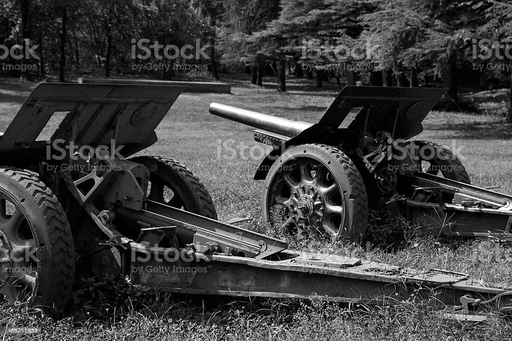 Pieces of ordnance royalty-free stock photo