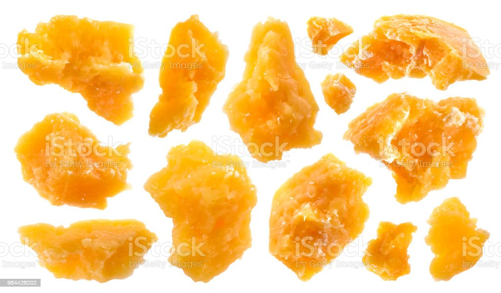 Pieces of parmesan cheese isolated on white background with clipping path - Royalty-free Belarus Stock Photo
