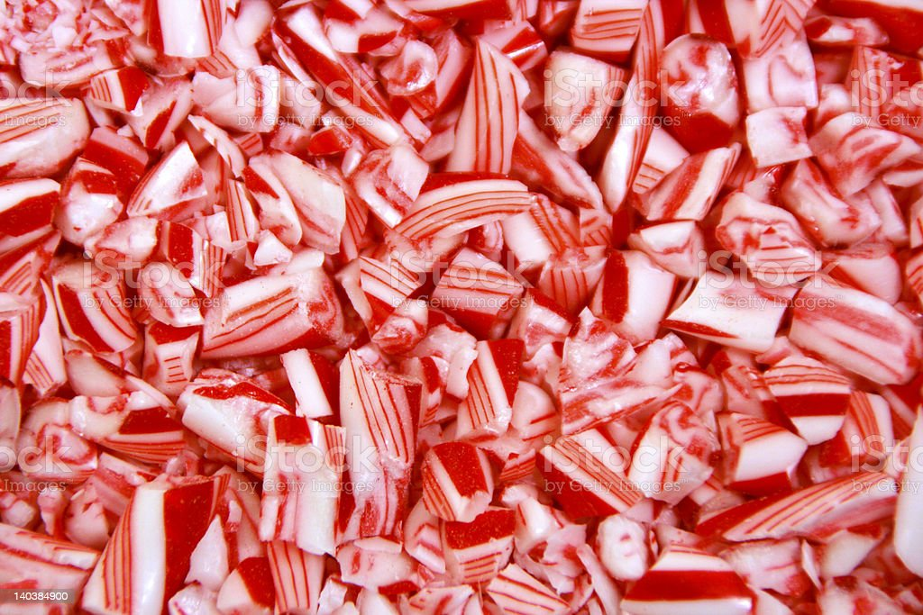 Pieces of Pepperment stock photo