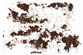 pieces of rust isolated on a white background. template for design