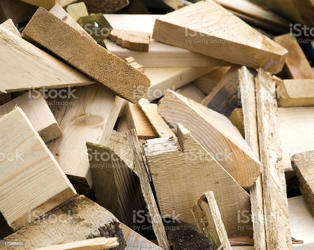 Pieces of Sawed Wood stock photo
