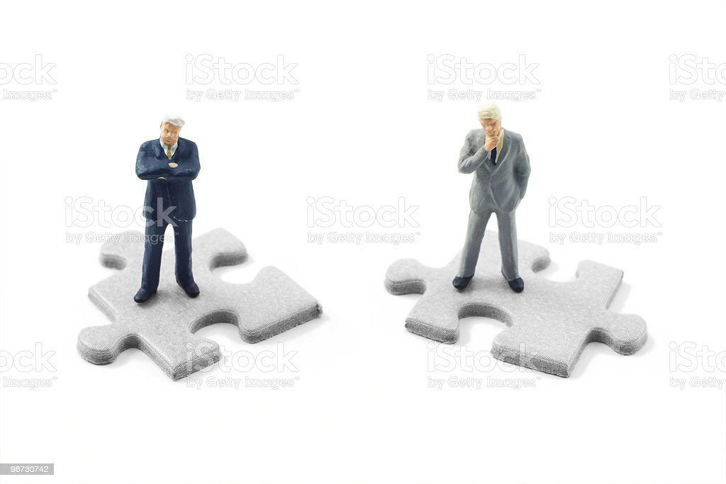 Pieces of the puzzle royalty-free stock photo