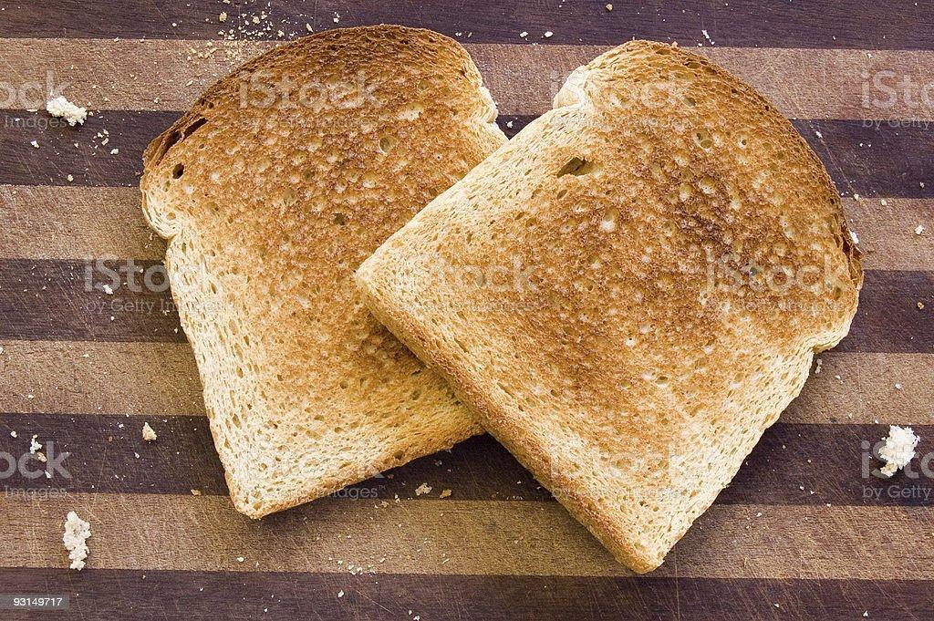 Pieces of toast stock photo