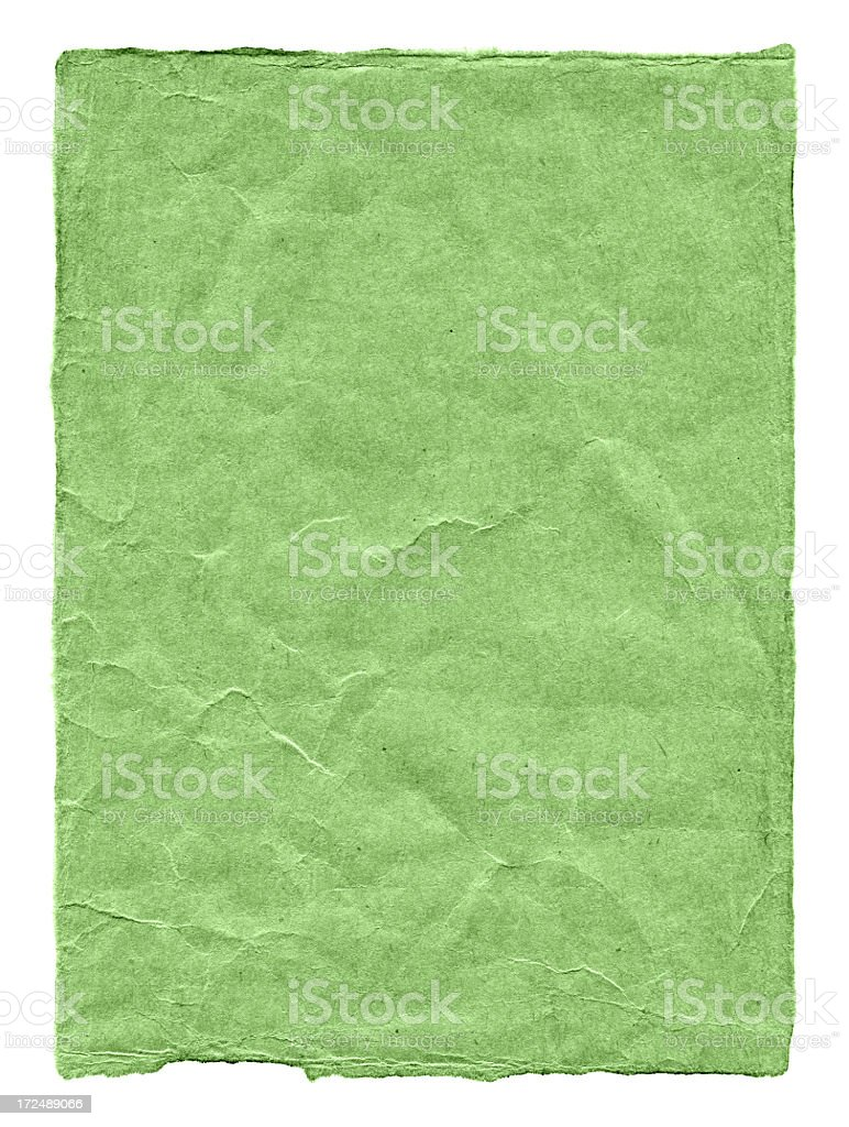 Pieces of torn green paper textured background royalty-free stock photo
