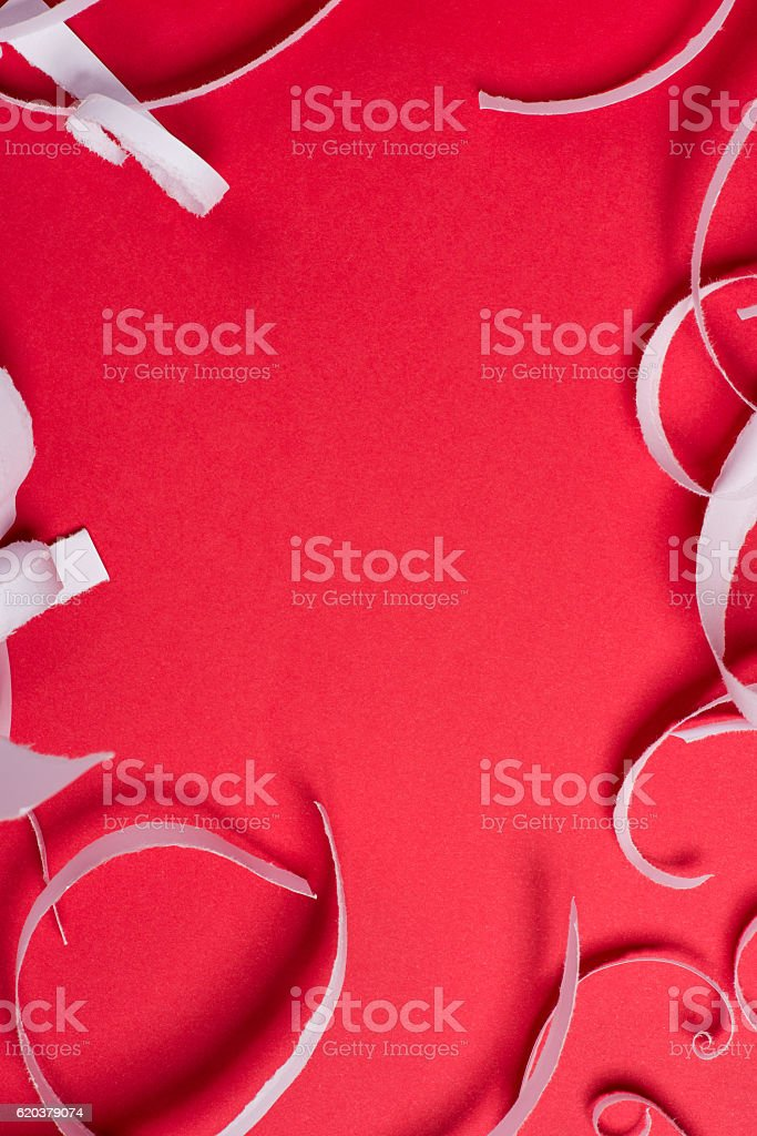 Pieces of torn paper over the red background foto de stock royalty-free