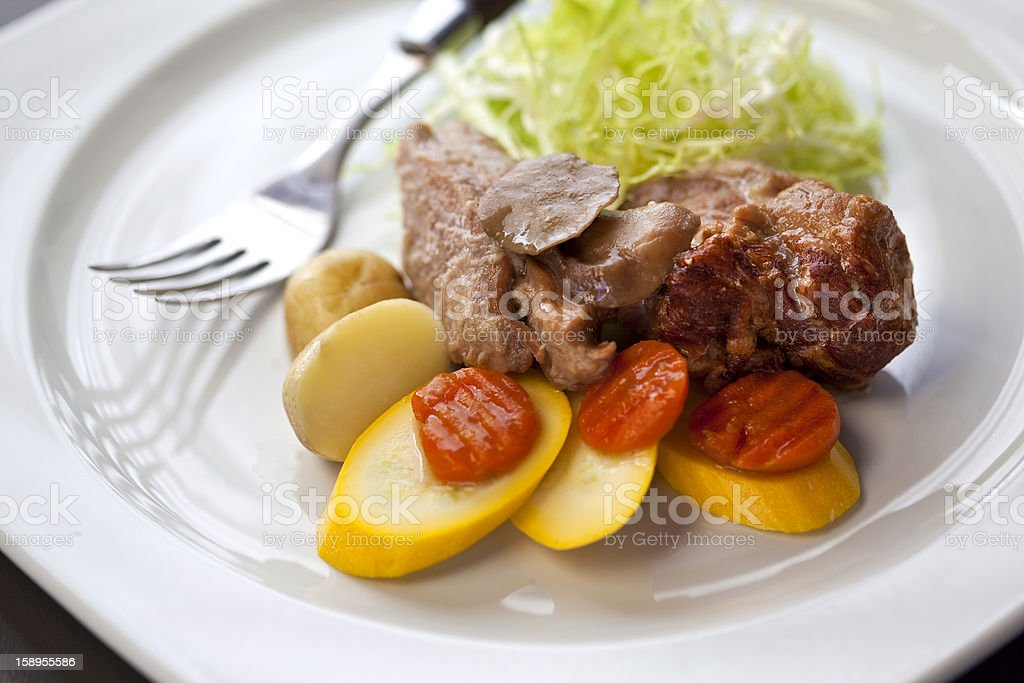 Pieces of veal royalty-free stock photo