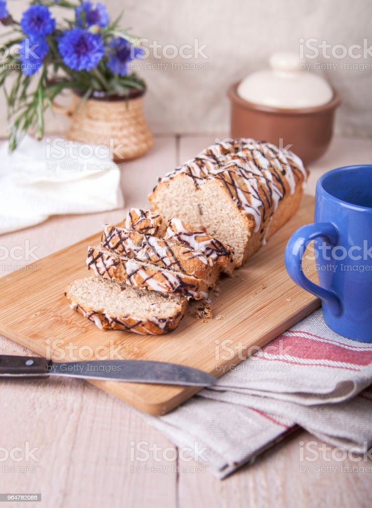 Pieces of whole grain cake royalty-free stock photo