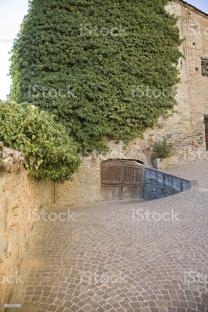 Piedmont. Castle of Calosso royalty-free stock photo