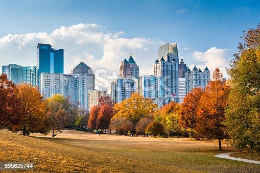 Atlanta, Georgia, USA skyline from Peidmont Park.