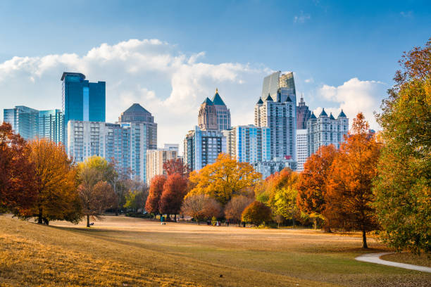 Piedmont Park Atlanta stock photo
