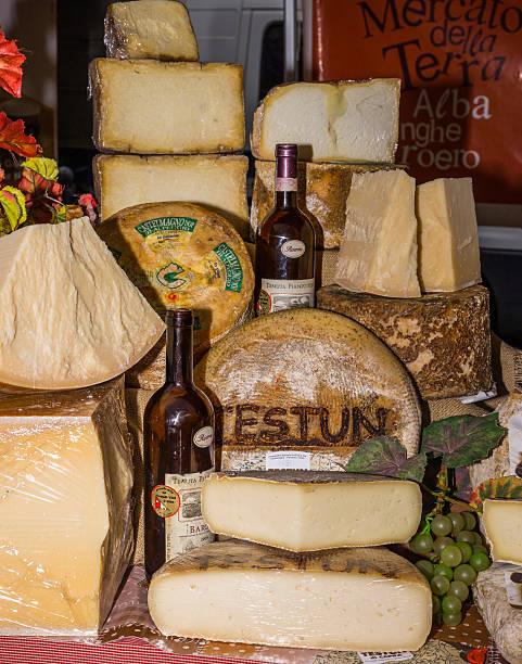 Piedmontese cheeses (International White Truffle Fair, Alba, Italy) - foto stock