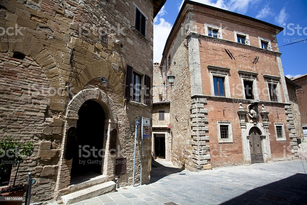 Pienza ancient houses royalty-free stock photo