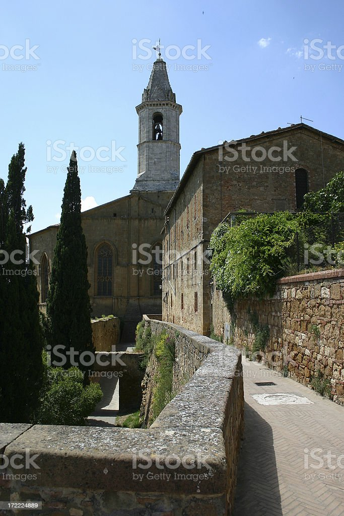 Pienza in June royalty-free stock photo