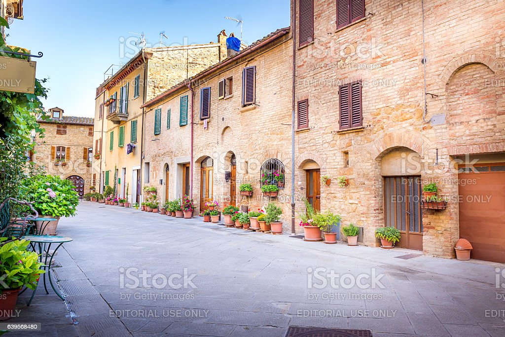 Pienza in Tuscany stock photo