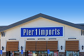 Hesperia, CA / USA – February 11, 2020: Building signage for Pier 1 Imports retail store located in Hesperia, California.